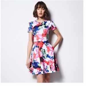 Milly Watercolor Floral Print Dress